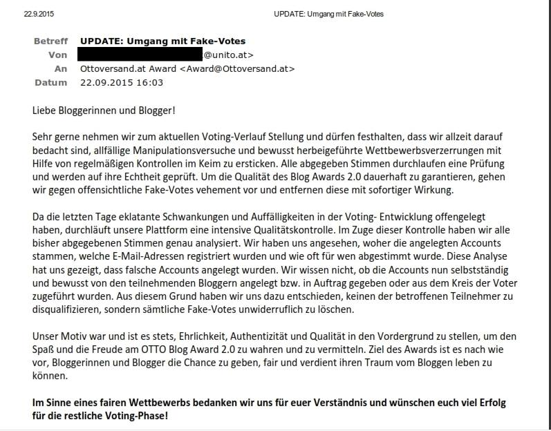 offener Brief an alle Blogger