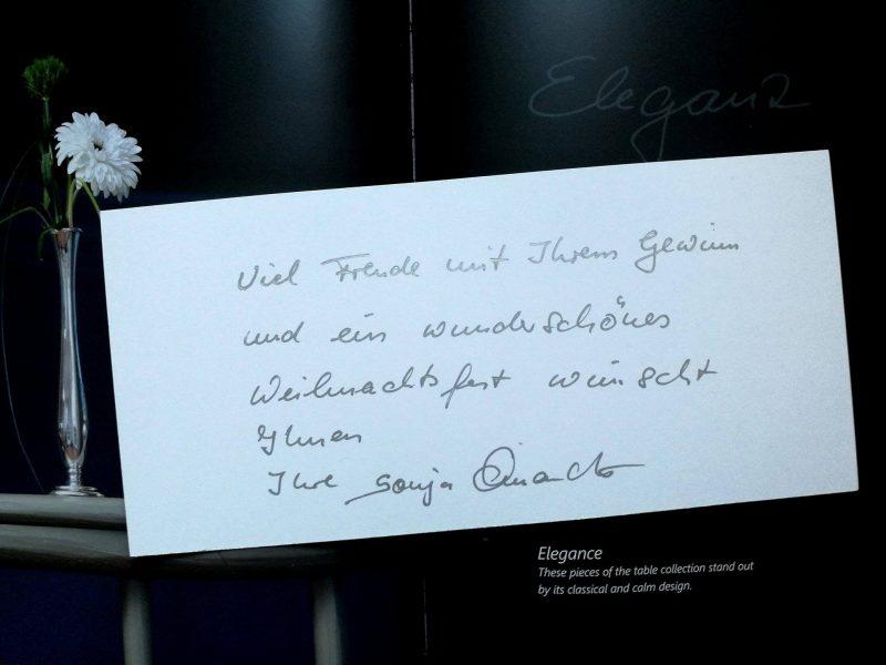 Weihnachtsgrüße, Sonja Quandt