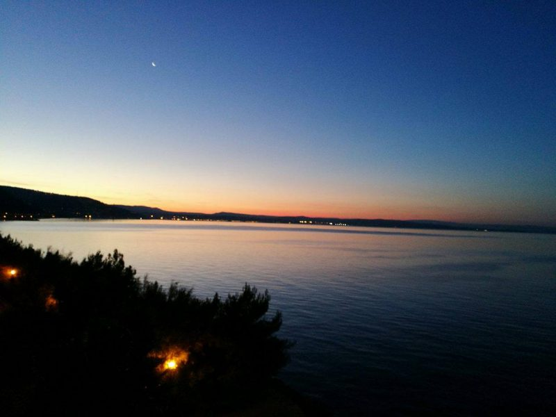Sonnenaufgang Trieste Miramare