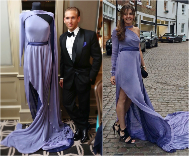 The Amethyst Gown from the new Spring-Summer 2017 Couture Collection by Marcin Lobacz ( worn by H.R.H. Princess Tessy of Luxembourg for the Big Dutch Masters Art Gala)