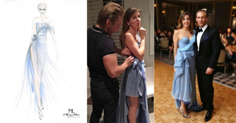 The MŁ Moonstone Gown from the Spring-Summer 2017 Couture Collection by Marcin Lobacz from the drawing, through fitting, to the final appearance of Princess Tessy wearing it for the Diplomatic Ball in London