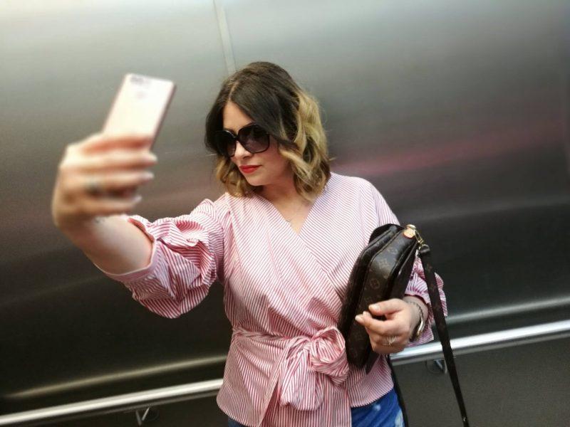 Die gestreifte Bluse von Zara