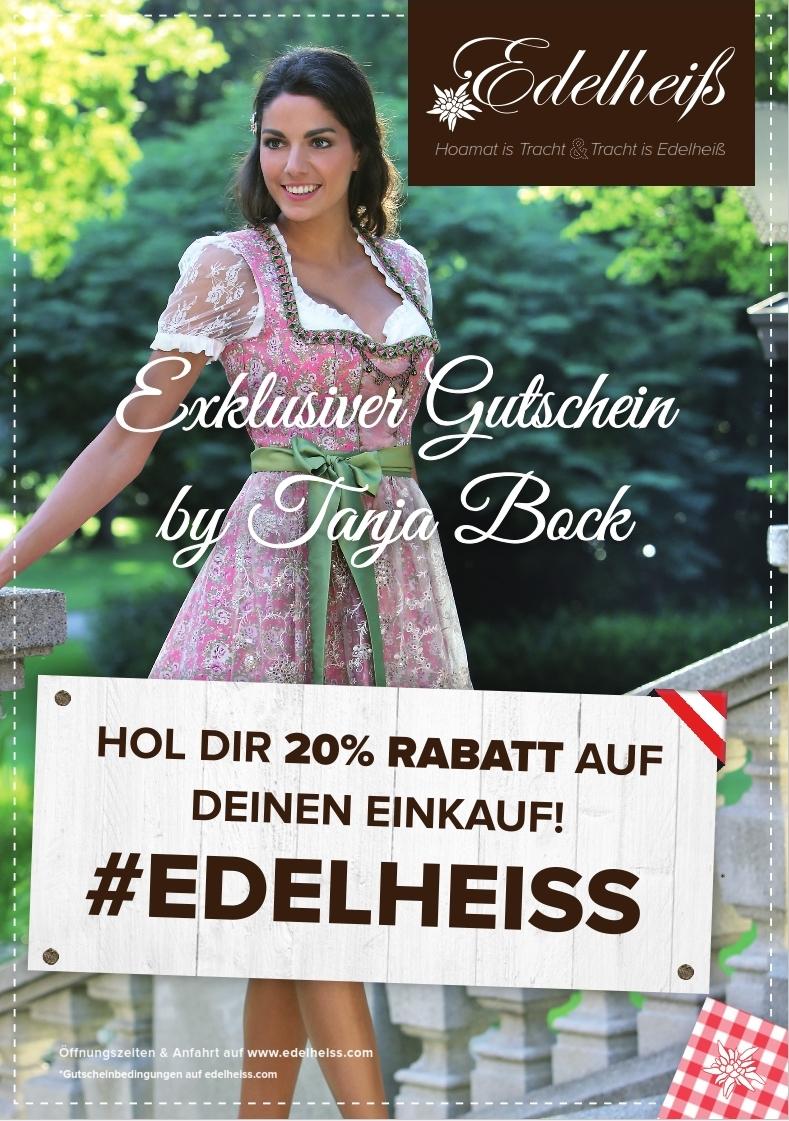 Exklusiver Gutschein by Tanja Bock #Edelheiss 20%