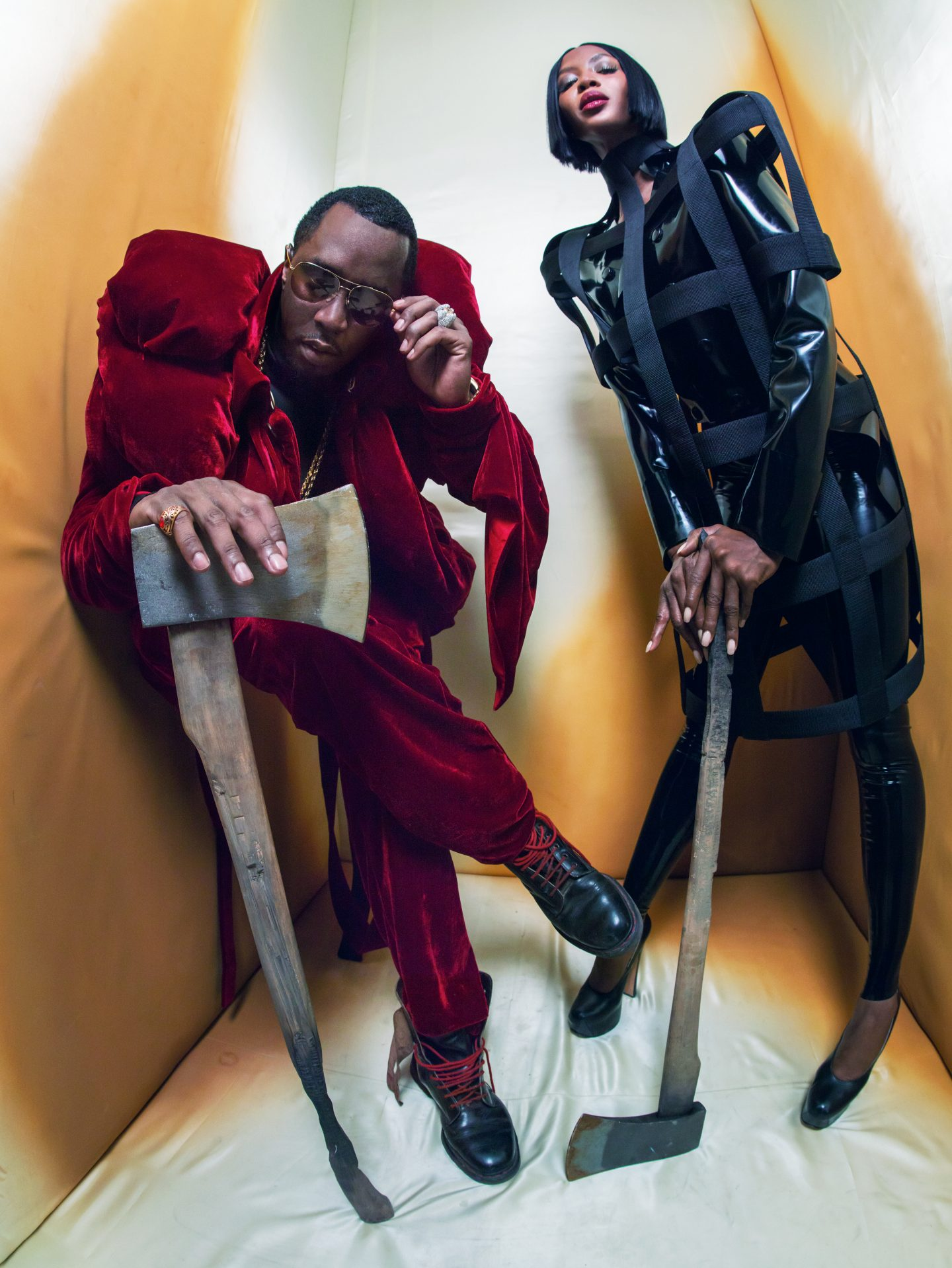 NAOMI CAMPBELL & SEAN DIDDY COMBS © Pirelli Kalender 2018, Tim Walker